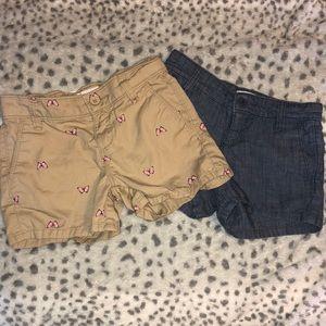 Bundle 2 Girls Old navy shorts